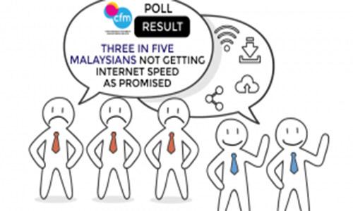 BANCIAN CFM: TIGA DARIPADA LIMA RAKYAT MALAYSIA TIDAK MENDAPAT KELAJUAN INTERNET SEPERTI YANG DIJANJIKAN