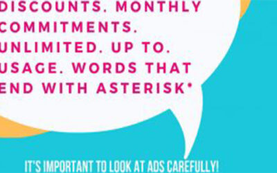 It's important to look at ads carefully.