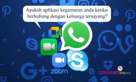 Yang manakah aplikasi kegemaran anda ketika berhubung dengan keluarga & orang tersayang?